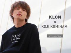【小南光司】コラボTシャツ「KLON COLLABORATION TEE -Koji Kominami-」発売決定!